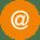 Komm-Mail-Icon-orange-rund